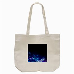 Abstract Musical Notes Purple Blue Tote Bag (cream) by Mariart