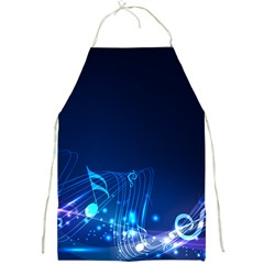 Abstract Musical Notes Purple Blue Full Print Aprons by Mariart