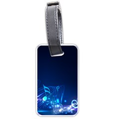 Abstract Musical Notes Purple Blue Luggage Tags (one Side)  by Mariart