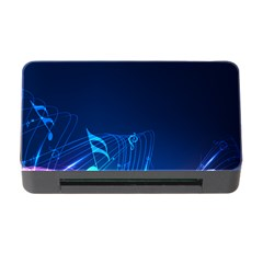 Abstract Musical Notes Purple Blue Memory Card Reader With Cf by Mariart
