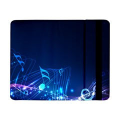 Abstract Musical Notes Purple Blue Samsung Galaxy Tab Pro 8 4  Flip Case by Mariart