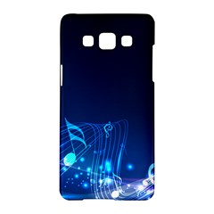 Abstract Musical Notes Purple Blue Samsung Galaxy A5 Hardshell Case  by Mariart