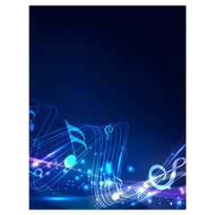 Abstract Musical Notes Purple Blue Drawstring Bag (large) by Mariart