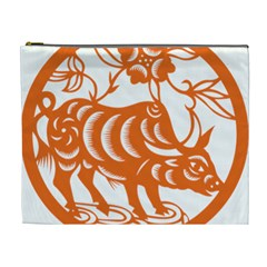 Chinese Zodiac Cow Star Orange Cosmetic Bag (xl) by Mariart
