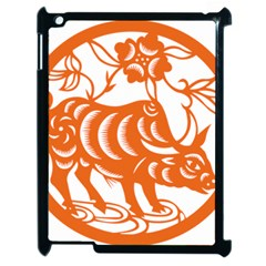 Chinese Zodiac Cow Star Orange Apple Ipad 2 Case (black) by Mariart