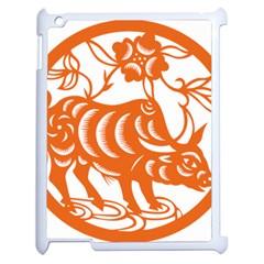 Chinese Zodiac Cow Star Orange Apple Ipad 2 Case (white) by Mariart
