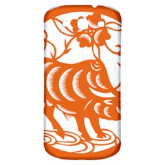 Chinese Zodiac Cow Star Orange Samsung Galaxy S3 S Iii Classic Hardshell Back Case by Mariart