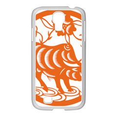 Chinese Zodiac Cow Star Orange Samsung Galaxy S4 I9500/ I9505 Case (white) by Mariart