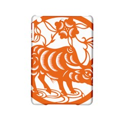 Chinese Zodiac Cow Star Orange Ipad Mini 2 Hardshell Cases by Mariart