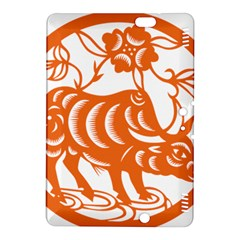 Chinese Zodiac Cow Star Orange Kindle Fire Hdx 8 9  Hardshell Case by Mariart