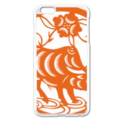 Chinese Zodiac Cow Star Orange Apple Iphone 6 Plus/6s Plus Enamel White Case by Mariart