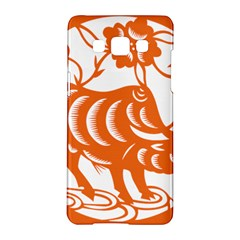 Chinese Zodiac Cow Star Orange Samsung Galaxy A5 Hardshell Case  by Mariart
