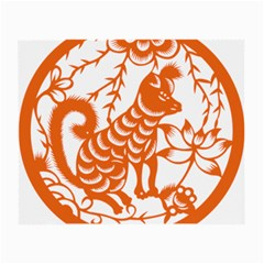 Chinese Zodiac Dog Star Orange Small Glasses Cloth (2 Side) by Mariart