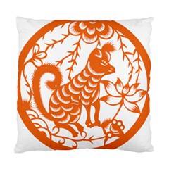 Chinese Zodiac Dog Star Orange Standard Cushion Case (one Side) by Mariart