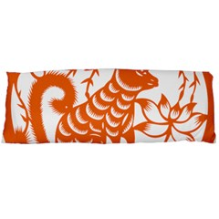 Chinese Zodiac Dog Star Orange Body Pillow Case Dakimakura (two Sides) by Mariart