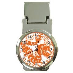 Chinese Zodiac Dragon Star Orange Money Clip Watches by Mariart