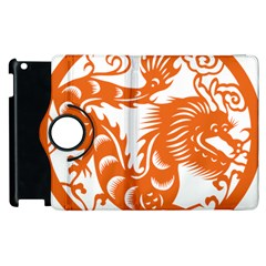 Chinese Zodiac Dragon Star Orange Apple Ipad 3/4 Flip 360 Case by Mariart