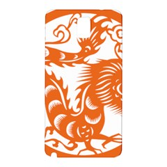 Chinese Zodiac Dragon Star Orange Samsung Galaxy Note 3 N9005 Hardshell Back Case by Mariart