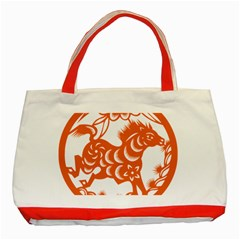 Chinese Zodiac Horoscope Horse Zhorse Star Orangeicon Classic Tote Bag (red) by Mariart