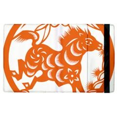 Chinese Zodiac Horoscope Horse Zhorse Star Orangeicon Apple Ipad 3/4 Flip Case by Mariart
