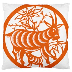 Chinese Zodiac Goat Star Orange Standard Flano Cushion Case (one Side) by Mariart