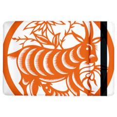 Chinese Zodiac Goat Star Orange Ipad Air 2 Flip by Mariart