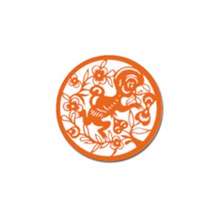 Chinese Zodiac Horoscope Monkey Star Orange Golf Ball Marker (4 Pack) by Mariart