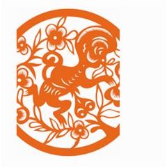 Chinese Zodiac Horoscope Monkey Star Orange Large Garden Flag (two Sides)