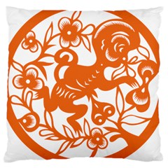 Chinese Zodiac Horoscope Monkey Star Orange Large Cushion Case (two Sides) by Mariart