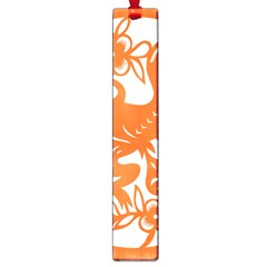 Chinese Zodiac Horoscope Monkey Star Orange Large Book Marks by Mariart
