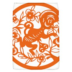 Chinese Zodiac Horoscope Monkey Star Orange Flap Covers (l)  by Mariart