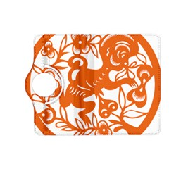 Chinese Zodiac Horoscope Monkey Star Orange Kindle Fire Hd (2013) Flip 360 Case by Mariart