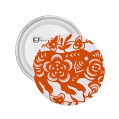 Chinese Zodiac Horoscope Pig Star Orange 2 25  Buttons by Mariart