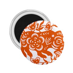 Chinese Zodiac Horoscope Pig Star Orange 2 25  Magnets by Mariart