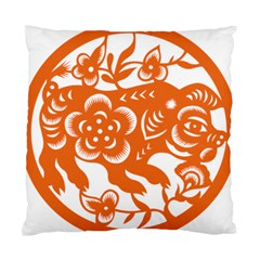 Chinese Zodiac Horoscope Pig Star Orange Standard Cushion Case (one Side) by Mariart