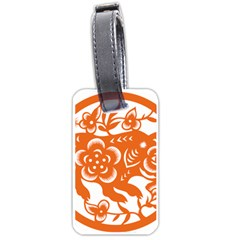 Chinese Zodiac Horoscope Pig Star Orange Luggage Tags (one Side)  by Mariart