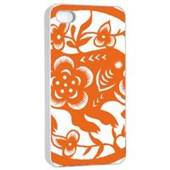 Chinese Zodiac Horoscope Pig Star Orange Apple Iphone 4/4s Seamless Case (white) by Mariart