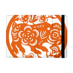 Chinese Zodiac Horoscope Pig Star Orange Apple Ipad Mini Flip Case by Mariart