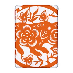 Chinese Zodiac Horoscope Pig Star Orange Apple Ipad Mini Hardshell Case (compatible With Smart Cover) by Mariart
