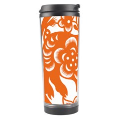 Chinese Zodiac Horoscope Pig Star Orange Travel Tumbler by Mariart