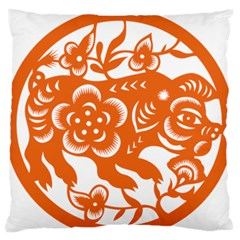 Chinese Zodiac Horoscope Pig Star Orange Standard Flano Cushion Case (one Side) by Mariart