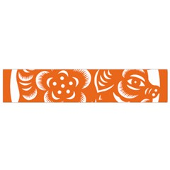 Chinese Zodiac Horoscope Pig Star Orange Flano Scarf (small) by Mariart
