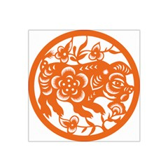 Chinese Zodiac Horoscope Pig Star Orange Satin Bandana Scarf by Mariart
