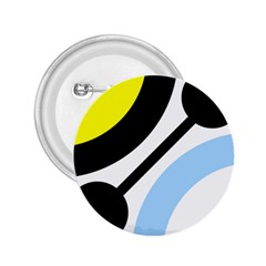 Circle Line Chevron Wave Black Blue Yellow Gray White 2 25  Buttons by Mariart