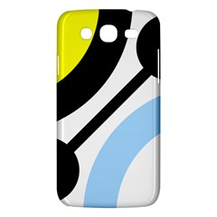 Circle Line Chevron Wave Black Blue Yellow Gray White Samsung Galaxy Mega 5 8 I9152 Hardshell Case  by Mariart