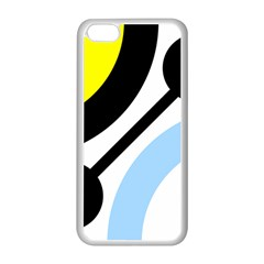 Circle Line Chevron Wave Black Blue Yellow Gray White Apple Iphone 5c Seamless Case (white) by Mariart