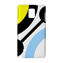 Circle Line Chevron Wave Black Blue Yellow Gray White Samsung Galaxy Note 4 Hardshell Case by Mariart
