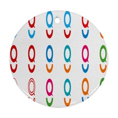 Circle Polka Bubbles Red Blue Green Blur Pink Orange Ornament (round) by Mariart