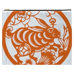 Chinese Zodiac Horoscope Rabbit Star Orange Cosmetic Bag (xxxl)  by Mariart