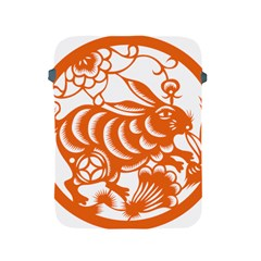 Chinese Zodiac Horoscope Rabbit Star Orange Apple Ipad 2/3/4 Protective Soft Cases by Mariart